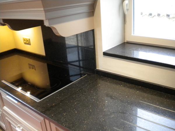 marbre galaxy cuisine marbre quartz cuisine salle de bain table - Cuisine Moderne Orange Avec Marbre Galaxie Noir